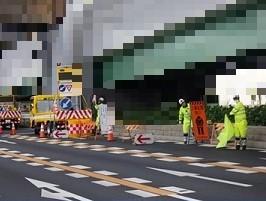 名古屋県道 右車線減少規制(名古屋東営業所)