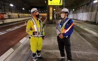 阪神高速道路 上り線 追越車線規制(西宮営業所)