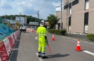 所長パトロール 中央自動車道 片側交互通行(名古屋西営業所)