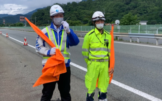 専務パトロール 中央自動車道 路肩規制(大月営業所)
